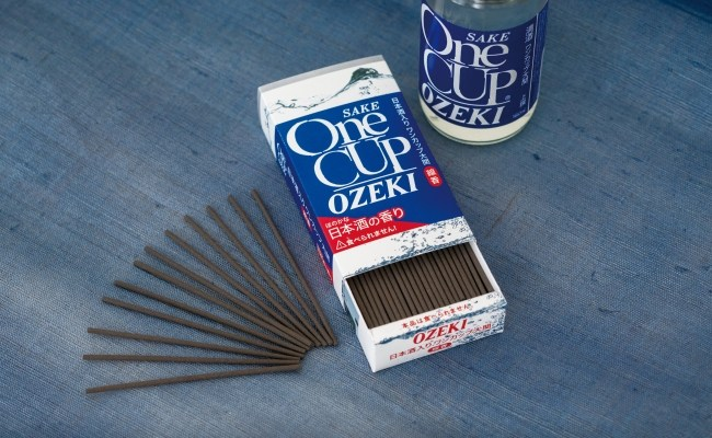 Take the aroma of sake to the afterlife with One Cup Ozeki sake incense sticks