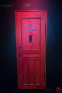 Bacardi's booth was setup like a speakeasy, complete with a cliche red door