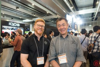 Alex Davies, head distiller at Kyoto Distillery with Venture Whisky's Ichiro Akuto. Japanese distilleries typically won't collaborate with one another, but who knows?