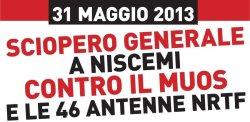sciopero generale a Niscemi contro il MUOS e le 46 antenne NRTF