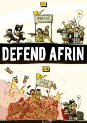 rapporto sugli sfollati di Afrin (Kurdistan siriano)
