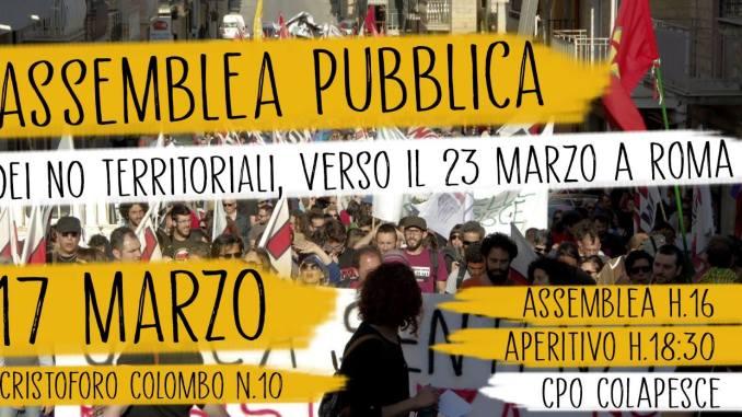 [CATANIA] 17 marzo   Assemblea regionale dei NO territoriali