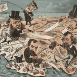 """Monopoly Millionaires Divide the Country,"" 1882"