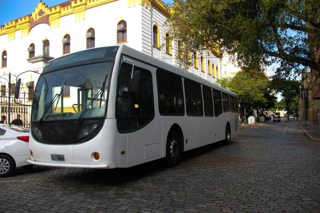 O ônibus cedido pela Carris para o percurso (Crédito: Ita Pritsch)