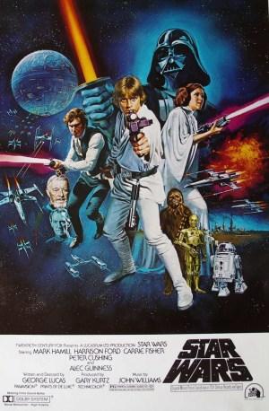 Cartaz original de Star Wars IV: Uma nova esperança