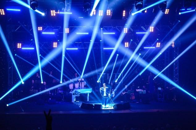 Show contou com momentos engraçados e interação do cantor com a plateia