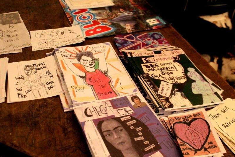 Expositoras de fanzines e artes gráficas também tiveram espaço (Foto: Duda Rocha)