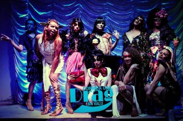 Desfile de drags trouxe lendas do pantanal como inspiração (Foto: divulgação)