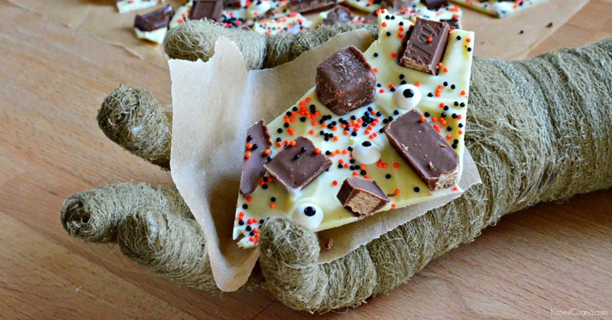 Katie\'s Cucina: White Chocolate Halloween Candy Bark • Nonahood News