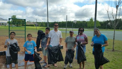 Neighbors from NorthLake Park and Village Walk come together