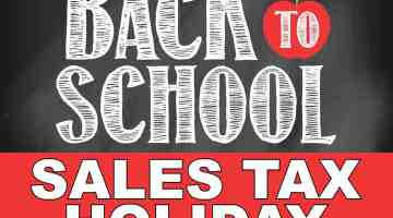 Back to School Sales Tax Holiday 2018
