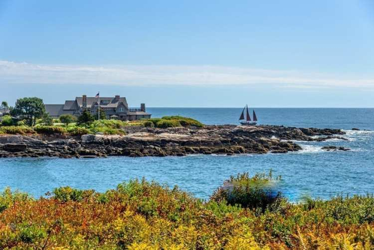 Photo of a Faraway Sail Ship, One of the Best Things to Do in Kennebunkport
