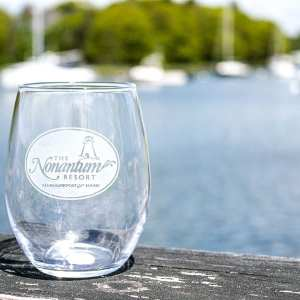 Kennebunkport resort wine glass