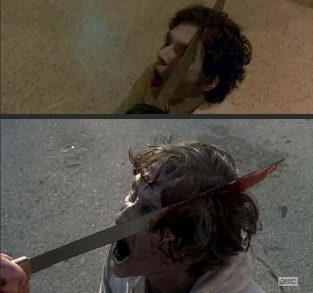 Machete in Zombie – The Walking Dead serie 5, episodio 16.