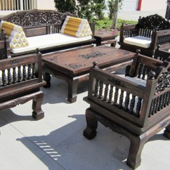Teak Wood Sofa Set Philippines Lc2 Hand Carved Of 8 Piece Living Room