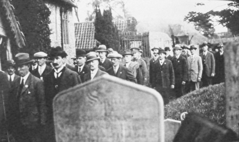 The parade to the dedication of the Nonington War Memorial, 1919