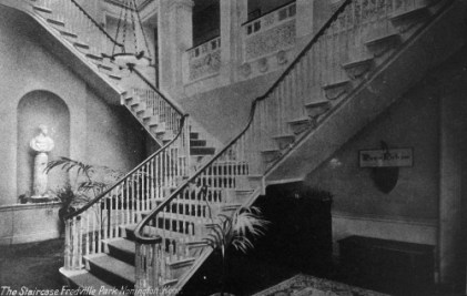 Fredville House staircase during the school years.