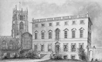 Plumptre House in Nottingham. The first John Plumptre of Fredville was the last member of the family to reside at Plumptre House and died at his London residence in 1791 at the age of 80. An advertisement in the Nottingham Journal for 2nd April 1803, announcing that Plumptre House was to be sold, described it as 'A Capital Messuage, in Stoney Street in the Town of Nottingham, (now divided into two Houses) , with the coach-houses, warehouse, stables, buildings, yards, and garden; containing in the whole, 3,903 square yards, in the occupation of Mr. Davison and Mr Williams.'