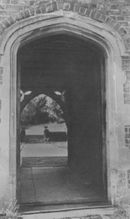 The arch leading from the court-yard to the gardens