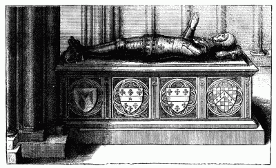 THE MONUMENT OF SIR JOHN BEAUCHAMP, POPULARLY KNOWN AS DUKE HUMPHREY'S TOMB. After W. Hollar.