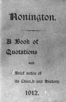 """1912 Nonington """"Brief Notes on Its Church and History"""" by the Rev. Sidney Sargent"""