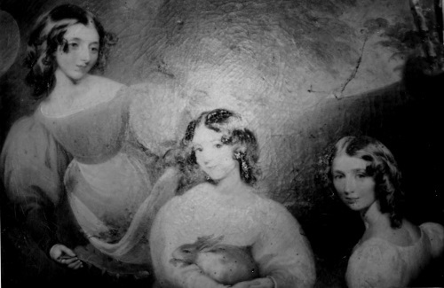 Catherine Emma, Cecilia Matilda, and Matilda Charlotte Louisa, the daughters of J.P.Plumptre-a pre-1850 portrait by an unknown artist
