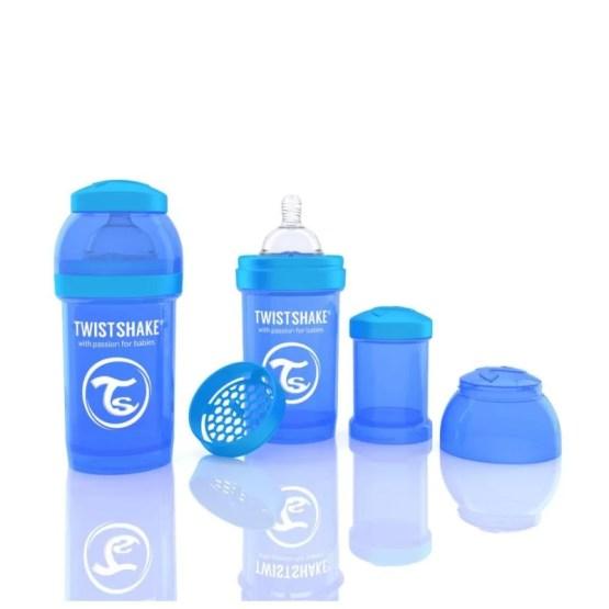Biberon Twistshake Anti – Colici 180 ml Albastru