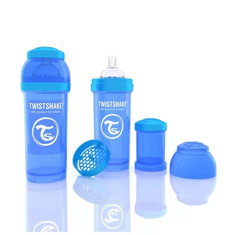 Biberon Twistshake Anti – Colici 260 ml Albastru