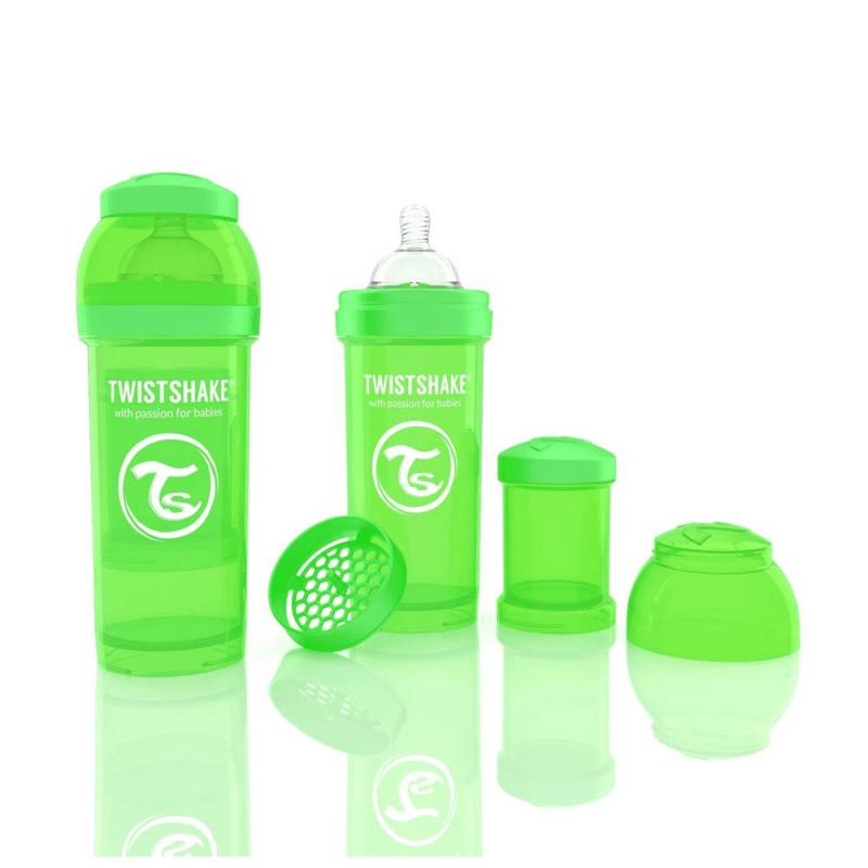 Biberon Twistshake Anti – Colici 260 ml Verde