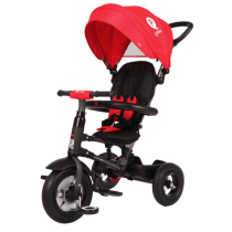 Tricicleta cu roti gonflabile de cauciuc Qplay Rito AIR Rosu