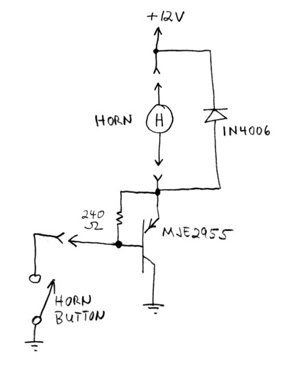 Electronic Horn Relay for a Bugeye Sprite