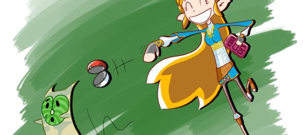 Zelda chasse un korogu
