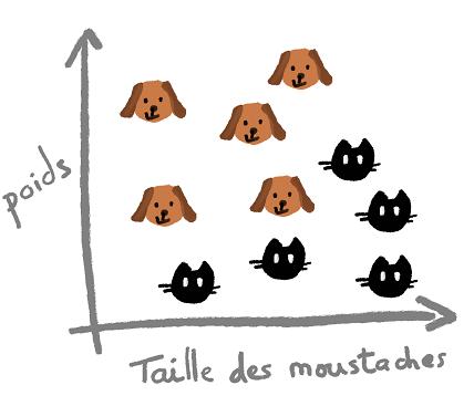 graphique de répartition des chats et des chiens