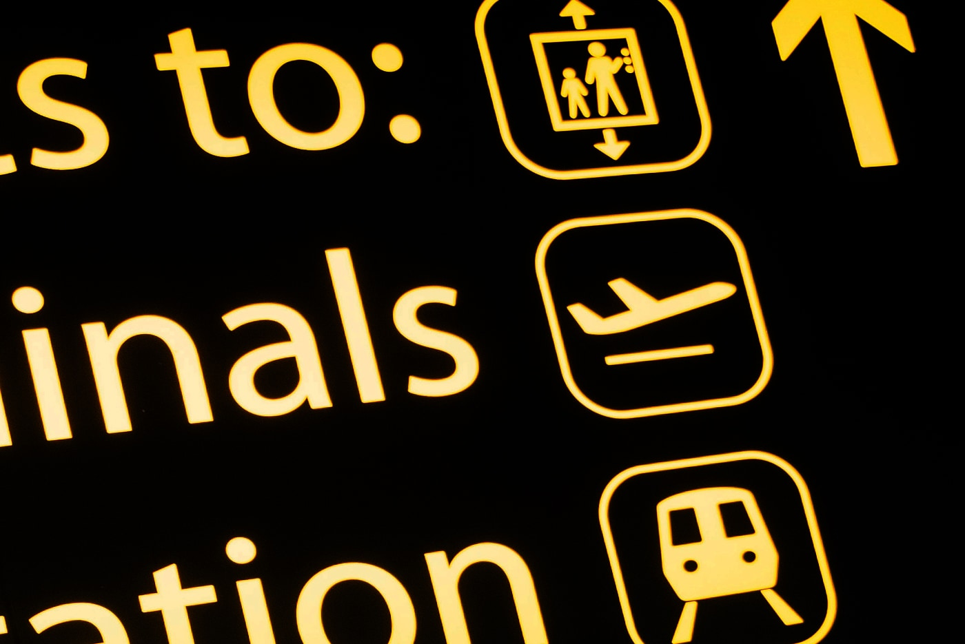 Gatwick Airport pictograms