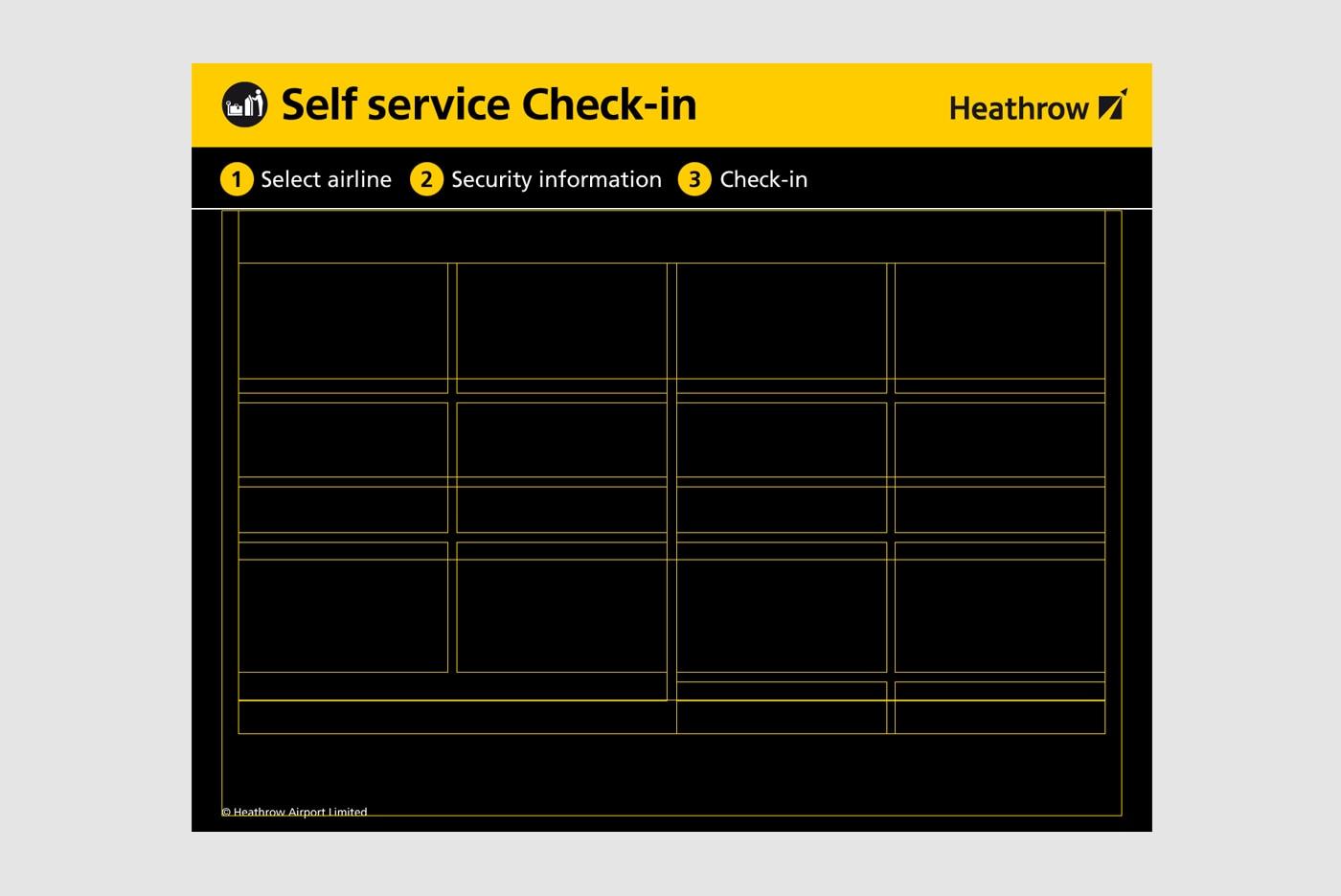 Heathrow's self service check-in