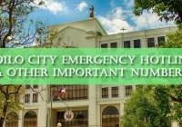 iloilo city emergency hotlines