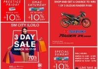 sm city iloilo 3-day sale