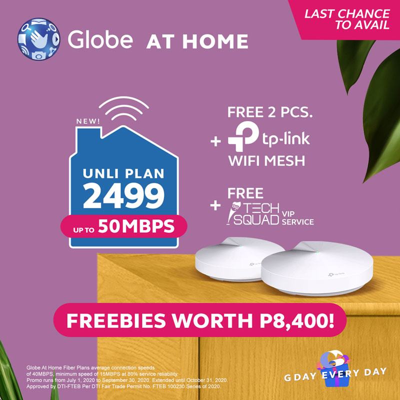 Globe at Home with wifi mesh