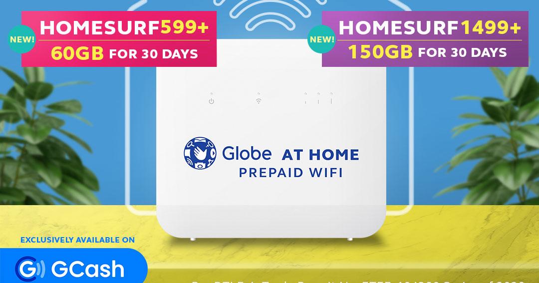 Globe At Home Promo via Gcash