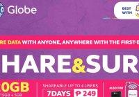 Globe SHARE&SURF249 promo