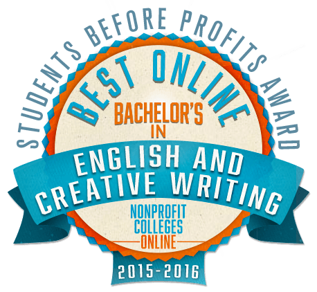 Best Online Bachelor's in English & Creative Writing: Students Before Profits Award 2015-2016