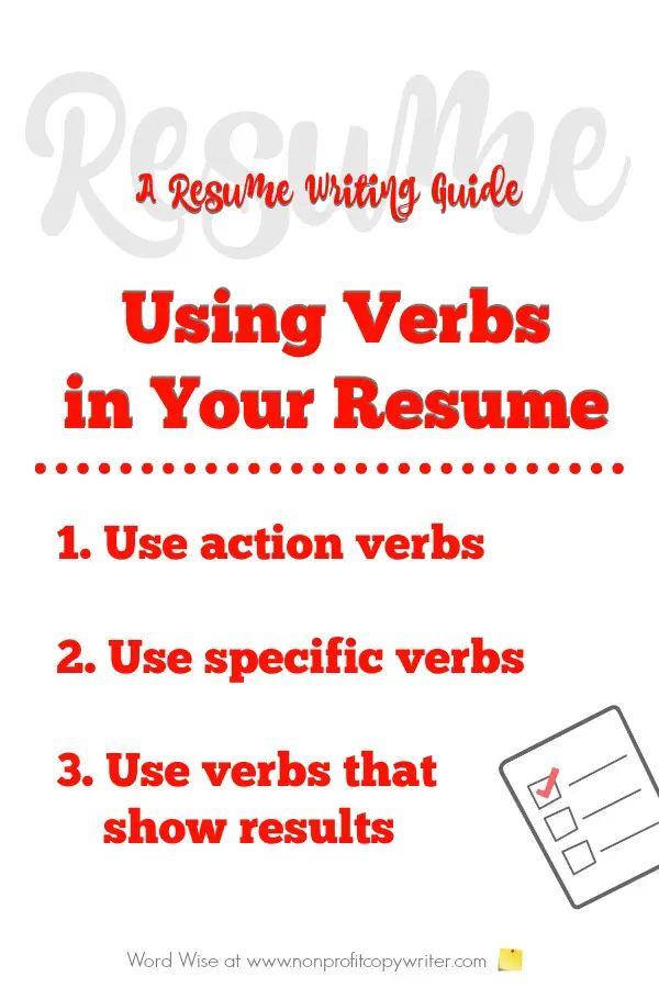 resume verbs created