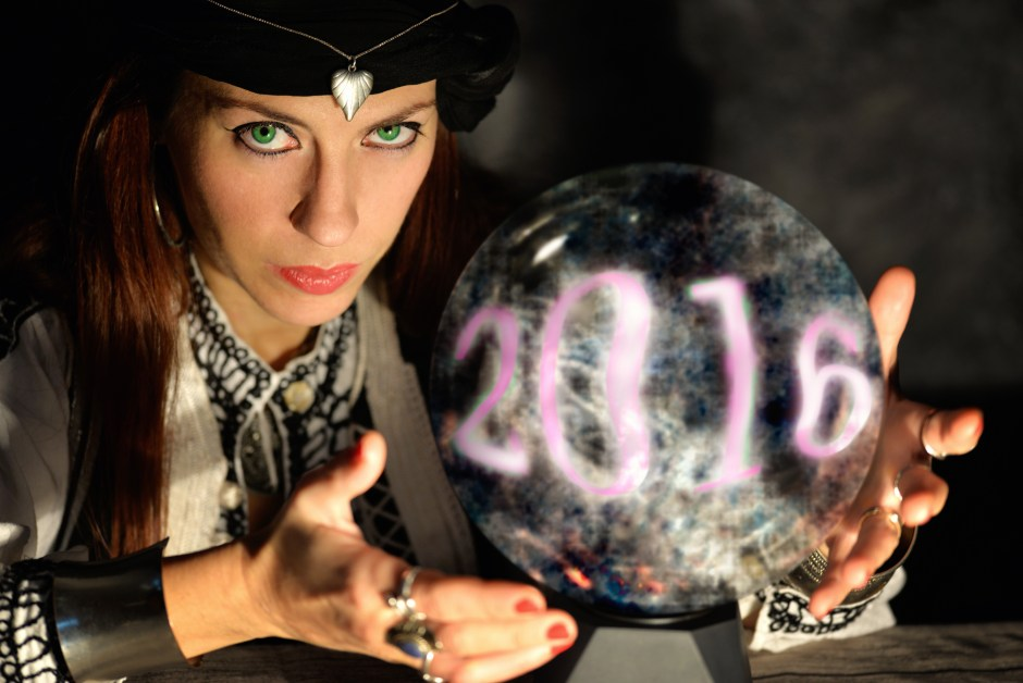 fortune teller forecasting 2016 new year it's coming soon,