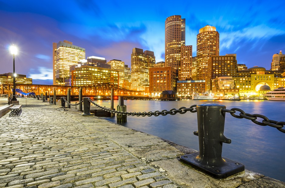 Boston, Massachusetts, USA Skyline at Fan Pier.