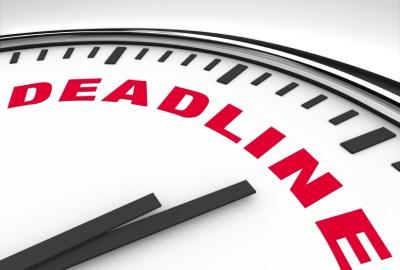 Deadline - Word on Clock