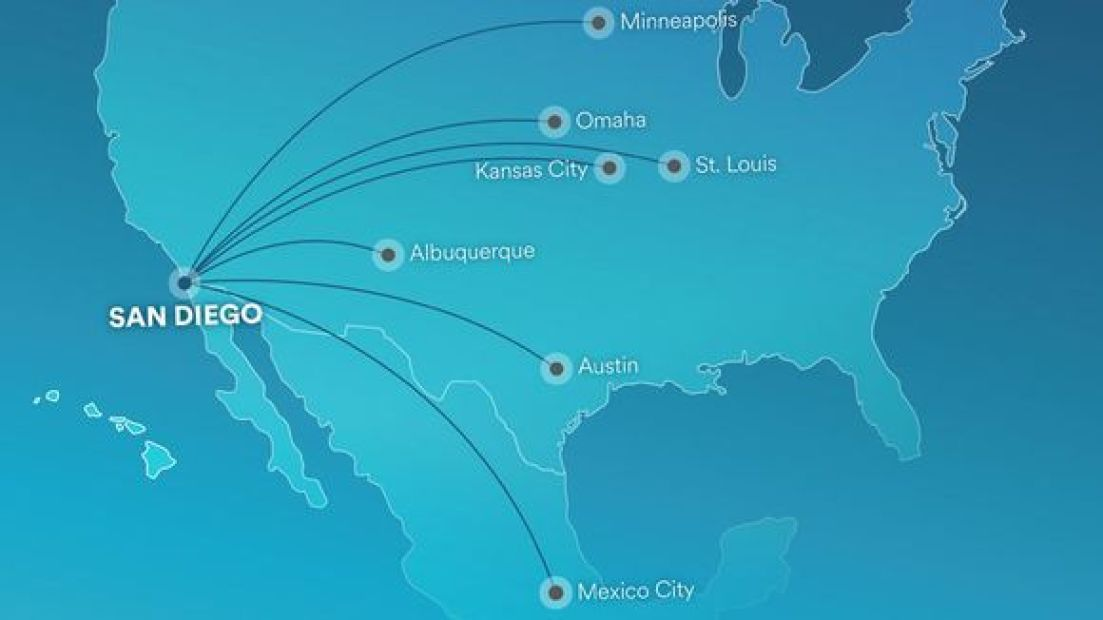 Alaska Airlines new eoutes from San Diego