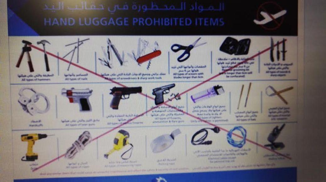 prohibited luggage items