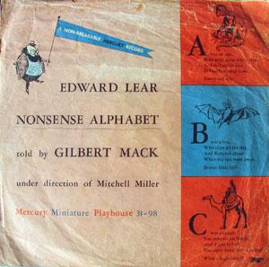 Edward Lear Nonsense Alphabet, told by Gilbert Mack