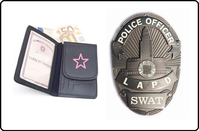Portafoglio Portadocumenti con Placca Originale SWAT