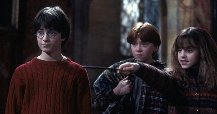 Harry Potter e la pietra filosofale frasi, citazioni e dialoghi di Chris Columbus con Daniel Radcliffe, Rupert Grint, Emma Watson, Hermione
